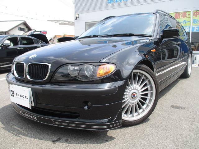 BMW 318iツーリング アルピナFスポイラー 社外18アルミ