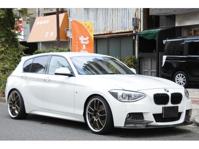 BMW 120i Mスポーツ 黒革 19インチ カーボン マフラー