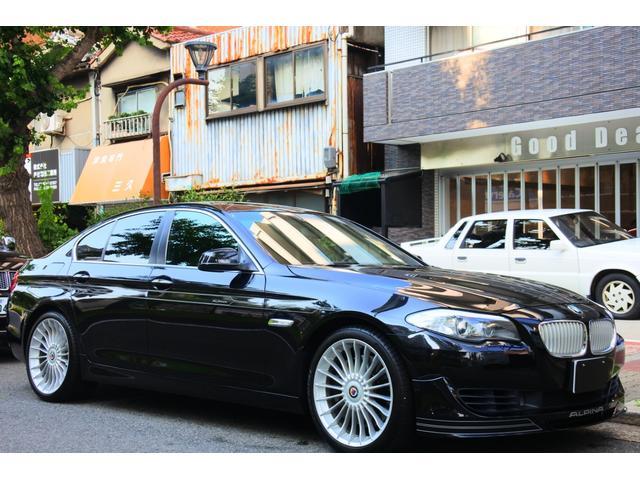 BMWアルピナ ビターボ リムジン ユーザー買取車 ディーラー車 左ハンドル 黒革シート サンルーフ 純正20インアルミ フルセグTV ETC メモリ付きパワーシート シートヒータ クルーズコントロール クリアランスソナー