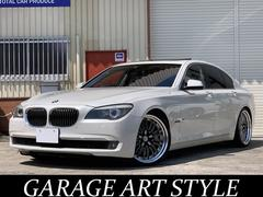 BMW750i H&Rローダウン 21AW 黒革 ナビ 地デジSR