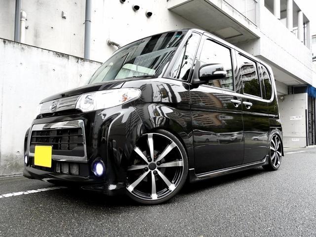 ダイハツ カスタムX 最終型ECOIDL 車高調&17インチHDDナビ