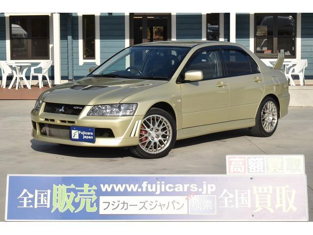 三菱 エボリューションVII GT-A ラリーアートマフラー 黒革