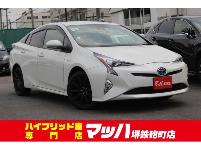 トヨタ プリウス Aツーリングセレクション 革シート 純正ナビ ...