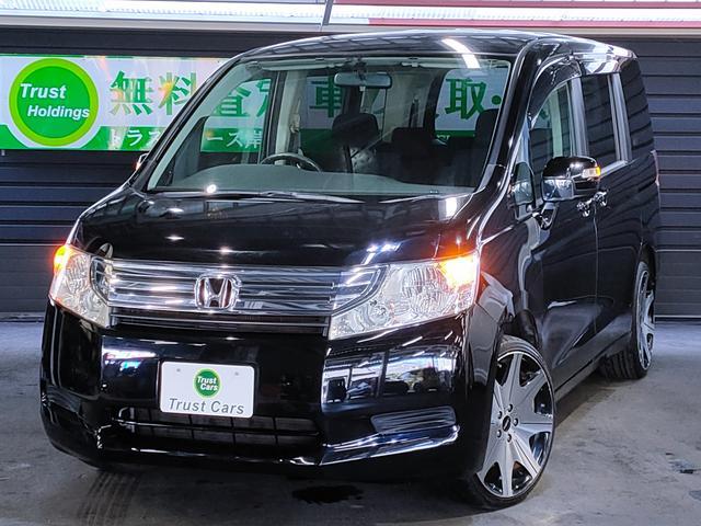 ステップワゴン G Lパッケージ /ディスチャージヘッド/LEDウインカーミラー/レグザス19AW/新品タイヤ/カロッツェリアナビ/フルセグ/DVD/バックカメラ/自発光メーター/ETC/3列目床下格納/両側電動スライド/車検整備付