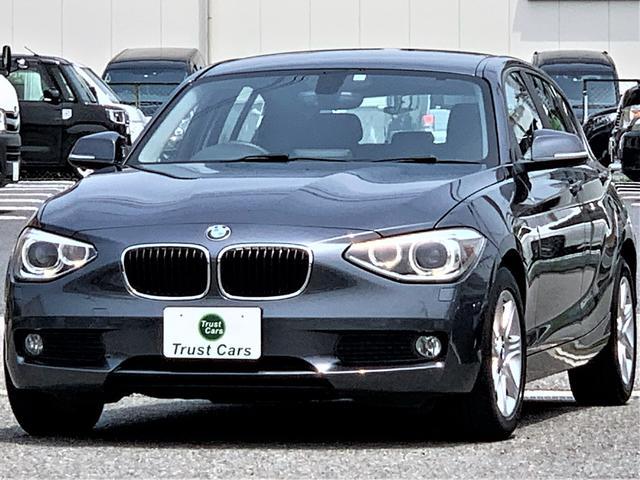 BMW 1シリーズ 116i /ターボ/LEDポジション/バイキセノンヘッド/LEDリヤコンビ/フォグ/LEDウィンカーミラー/16AW/ナビ/地デジ/バックカメラ/レザーステア/ETC/禁煙車