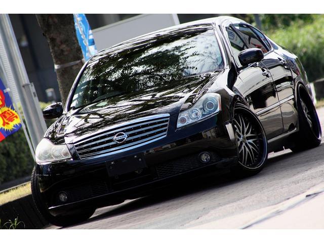 日産 350GT 車高調 20インチAW 革シート LEDフォグ