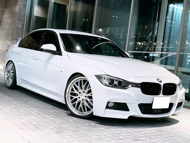 BMW 320d Mスポーツ WORK 20inchアルミ 新品タイヤ 新品車高調KIT 1オーナー アクティブクルーズコントロール