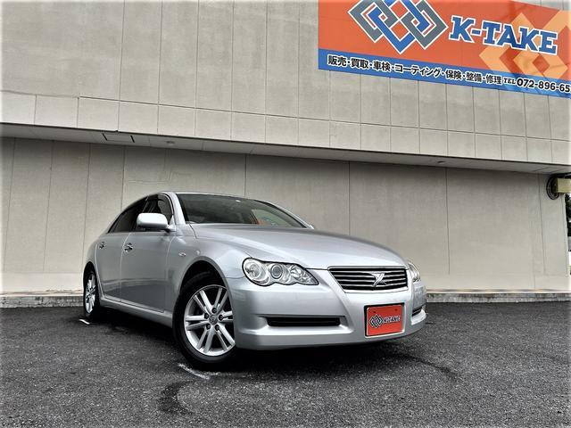 トヨタ マークX 250G 禁煙車/純正DVDナビ/バックカメラ/パワーシート/HIDヘッドライト/キーレスキー/電動格納ミラー//ETCオットマン/純正16AW/Bluetooth接続可能