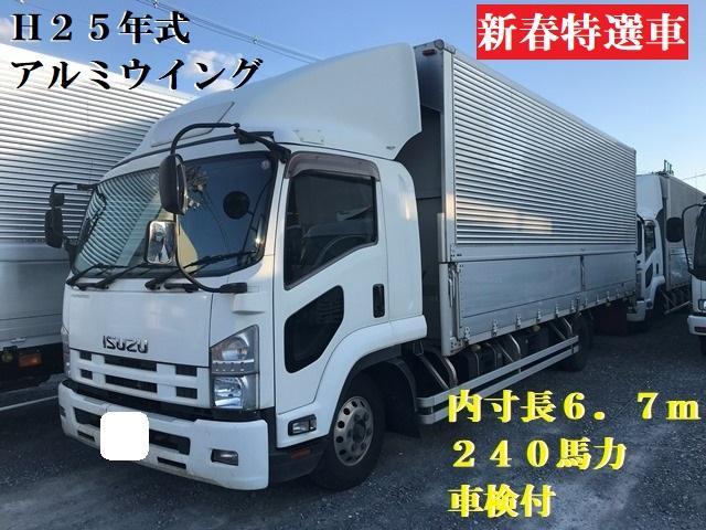 いすゞ フォワード  H25年・TKG-FRR90S2・アルミウイング・フルワイド・6MT・内寸長6.7m
