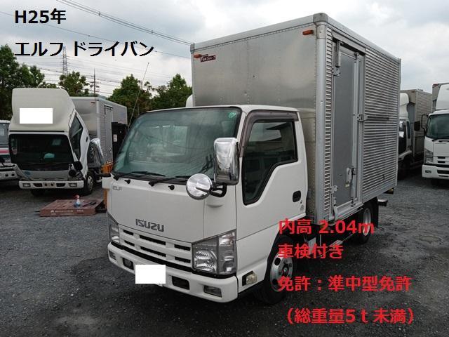 いすゞ エルフバン  平成25年式・TKG-NJR85AN・10尺アルミバン・サイドドア・スムーサーEX