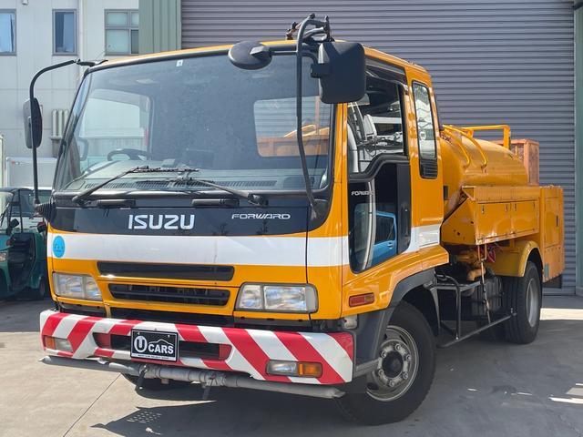 いすゞ  清掃車/高圧洗浄車/ジェット/最大積載3050kg/バックモニター/ETC車載器/
