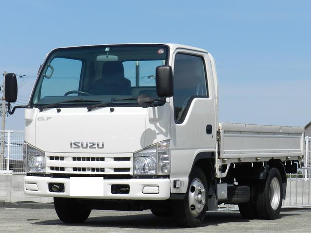 いすゞ エルフトラック フルフラットロー 積載2t 10尺 平ボディー スムーサーシフト ETC