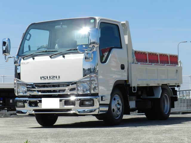 いすゞ エルフトラック ダンプ 3t低床ダンプ  純正メッキ  コボレーン中間ピン フォグ  積載3t  6速MT