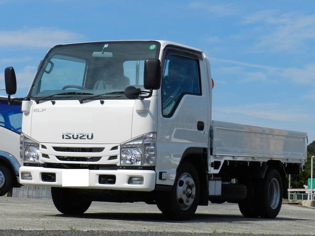 いすゞ エルフトラック  荷台鉄板張 平ボディー 積載2t 4ナンバー 三方開 キーレス  電動格納ミラー