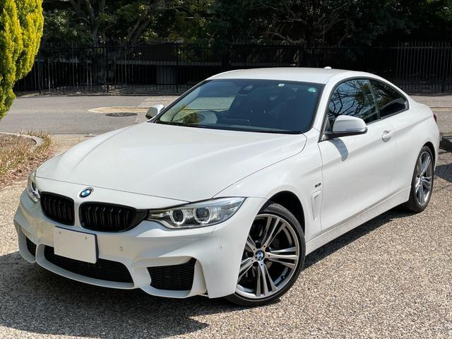 BMW 435iクーペ スポーツ M4仕様/スマートキー/アクティブクルーズ/赤ステッチブラックレザーシート/HDDナビ/iDrive/地デジTV/Bluetooth/バックカメラ/リアセンサー/シートヒーター/ドラレコ/安全装備