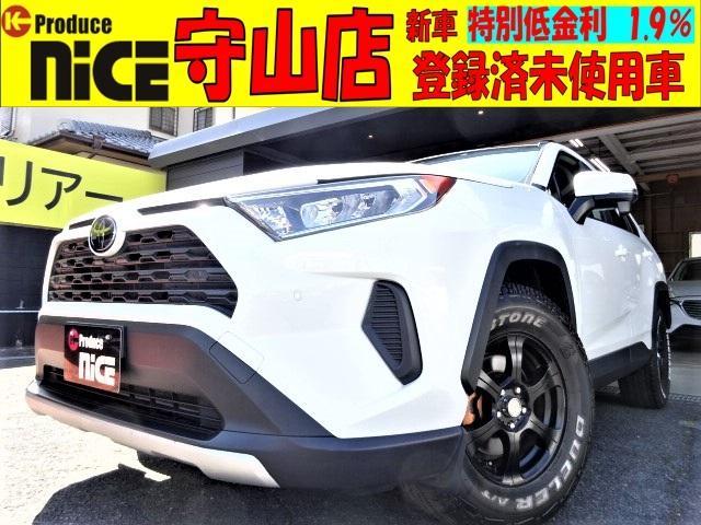 トヨタ RAV4 X 9インチフルセグナビ・Bluetooth・フルセグTV・ETC・バックカメラ・トヨタセーフティセンス・クリアランスソナー・16インチアルミ・ホワイトレタータイヤ・ワンオーナー車
