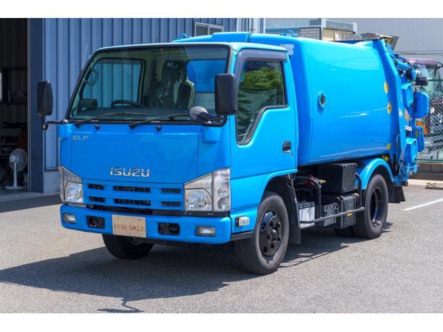 いすゞ エルフトラック  2t パッカー車  回転式 ダンプ式 極東製 4.9立米