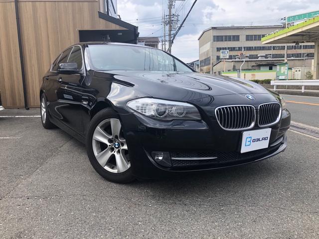 BMW 5シリーズ 528i 純正メーカー 地デジTV バックカメラ DVD再生 ナビ黒革シート サンルーフ パワーシート スマートキー プッシュスタート HIDヘッドライト ミラー内蔵ETC 純正17アルミ