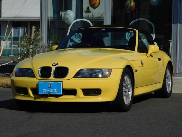 BMW Z3ロードスター ベースグレード ツーオーナー 黒革シート シートヒーター パワーシート ETC ダカールイエロー 実走行車