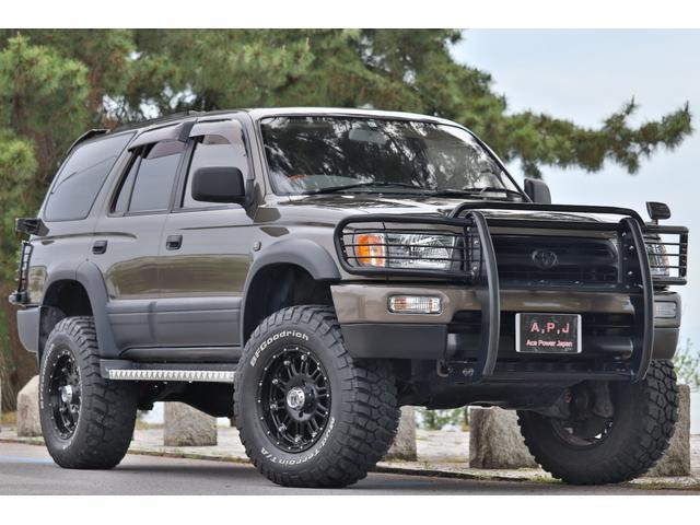 トヨタ ハイラックスサーフ SSR-G ワイド 6インチリフトアップ 無期刑無制限保証付 サンルーフ 全塗装 グリルガード MTタイヤ