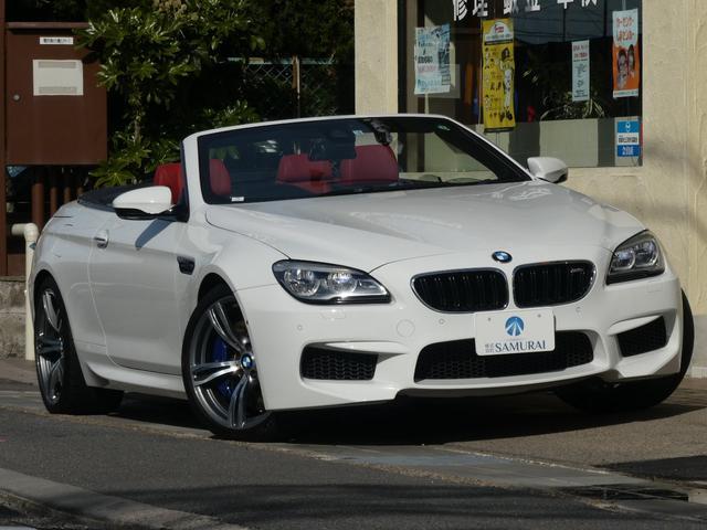 BMW M6 カブリオレ 2オーナー禁煙車 インテリジェントセーフティー コンフォートPKG ハーマンカードンサウンド サイドアシスト LEDヘッド HUD ドラレコ  赤本革シート シートヒータ― シートエアコン 黒幌