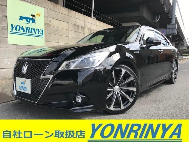 トヨタ アスリートS純正ナビBカメETC黒革社外19AW車高調