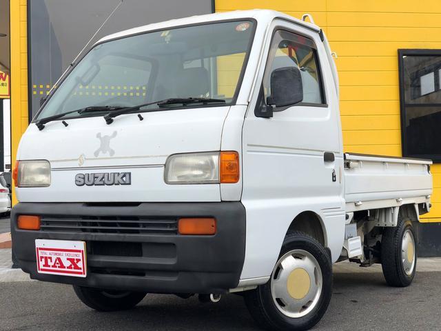 スズキ KU ワンオーナー・エアコン・4WD・荷台三方開・5速MT
