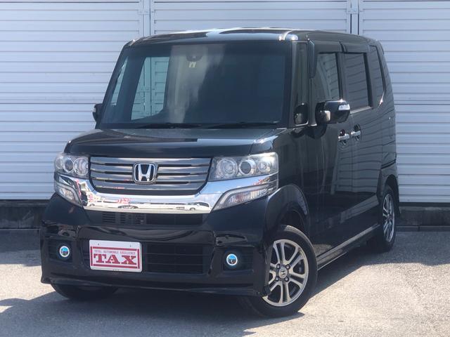 ホンダ N-BOXカスタム G・Aパッケージ・社外SDナビ・フルセグTV・Bモニター