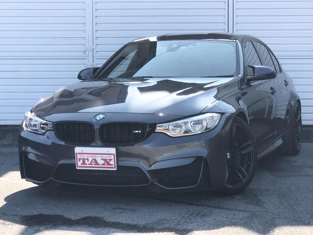 BMW M3 黒革シート・純正メーカーナビ・バックカメラ・パークディスタンスコントロール・ダイナミックドライビングシステム・インテリジェントセーフティ・レーンディパーチャーウォーニング・H&Rローダウンサス