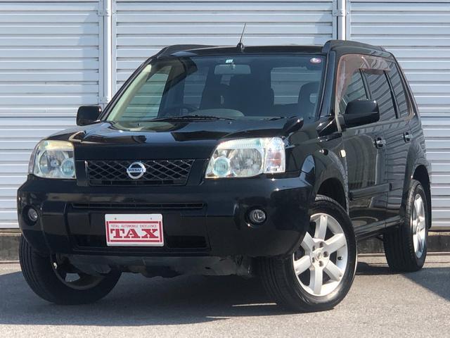 日産 X ワンオーナー・4WD・革シート・シートヒーター・社外HDDナビ・DVD再生・純正17インチAW・ETC・革巻きハンドル・電格ミラー・フロントフォグライト・ヘッドライトレベライザー・純正フロアマット