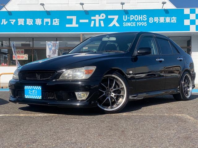 トヨタ RS200 Zエディション 6速ミッション 社外マフラー RS-Rダウンサス ワーク18インチアルミホイール キセノンヘッドライト 黒に全塗装 TRD240kmメーターに交換の為改ざん