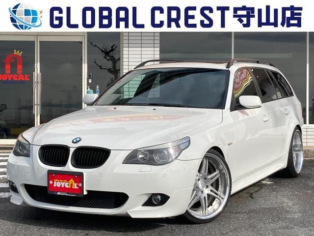 BMW 5シリーズ 525iツーリング Mスポーツパッケージ ワーク20インチAW 車高調 純正ナビ ETC 障害物センサー