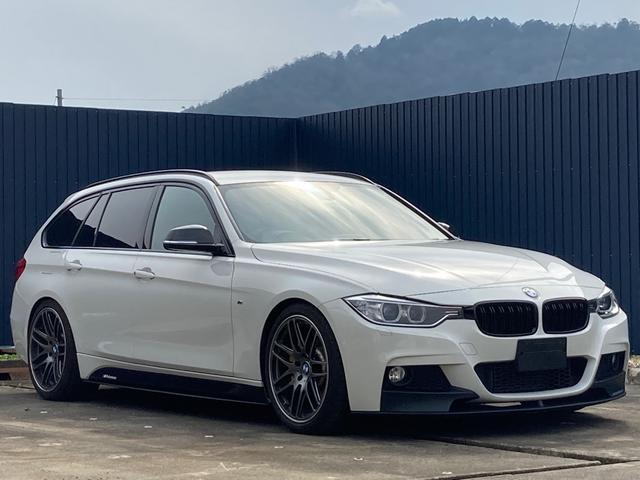 BMW 3シリーズ 320iツーリング Mスポーツ Mパフォーマンスステアリング・サイドスカート・フロントスポイラー・ブレーキ ACシュニッツァー装着 ビルシュタインショックアブソーバー ペダルボックススロコン アーキュレイマフラー カーボンドアミラー