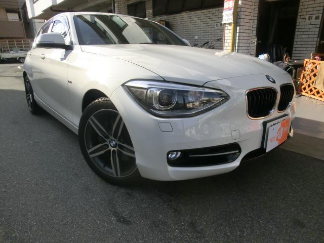 BMW 120i スポーツ 純正HDDナビ スマートキーX2 ミラー内ETC 運転席 助手席パワーシート 純正17インチ5本スポークアルミ