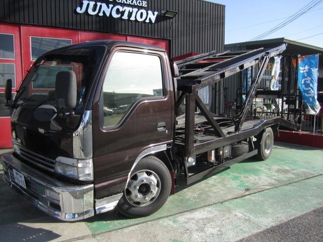 日産 アトラストラック  I/Cターボ 積載量3500Kg 2台積み アルミホイル積載車 キャリアカー リモコン