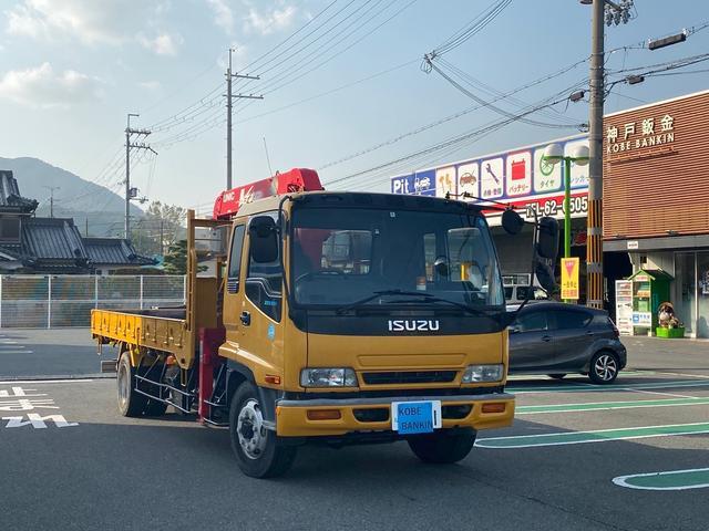 いすゞ 4段クレーン リモコン付 最大積載量7,400kg