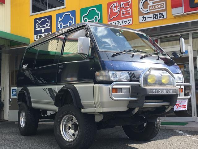 三菱 GLX ワンオーナー 6インチリフトアップ フジツボマフラー