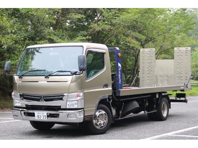 三菱ふそう  現行型 ブルーテックキャンター 積載車 ローダー キャリアカー ターボ