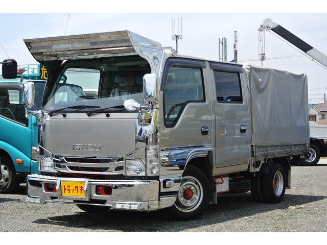 いすゞ Wキャブ幌付き 積載量1500キロ AT6人乗りバックカメラ