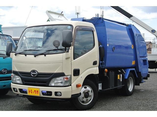 日野 プレス式パッカー車 容積4.1立米 2トン 5MT モリタ製