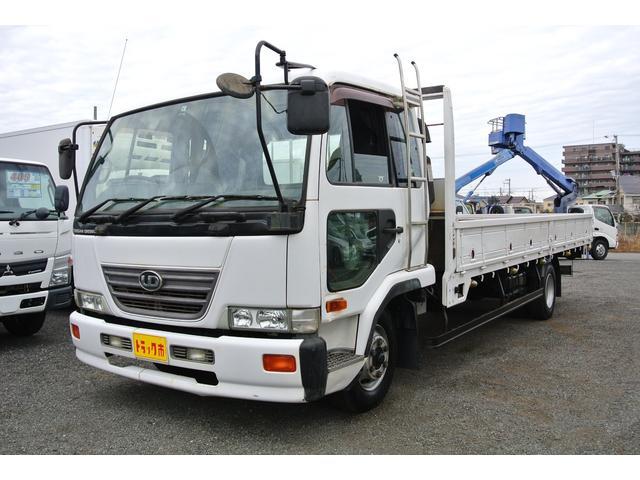 日産ディーゼル 平ボディー 積載量4100kg ベッド付き 6速MT