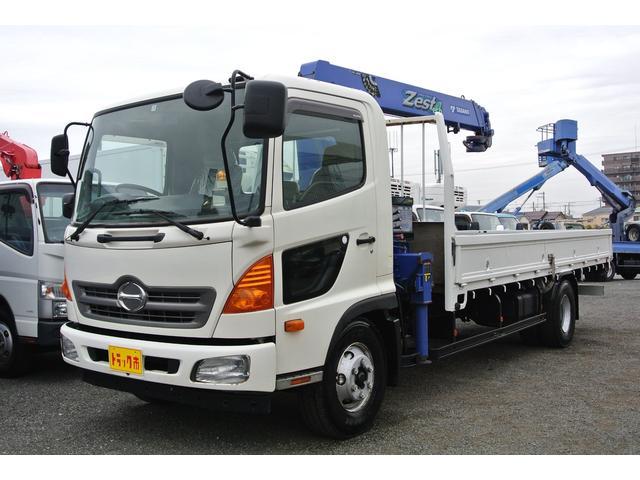 日野 ヒノレンジャー 4段クレーン付平ボディー 積載量2750kg ラジコン
