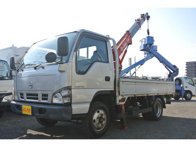 日産 アトラストラック 3段簡易クレーン付き平ボディー 積載量2t ワイドセミロング
