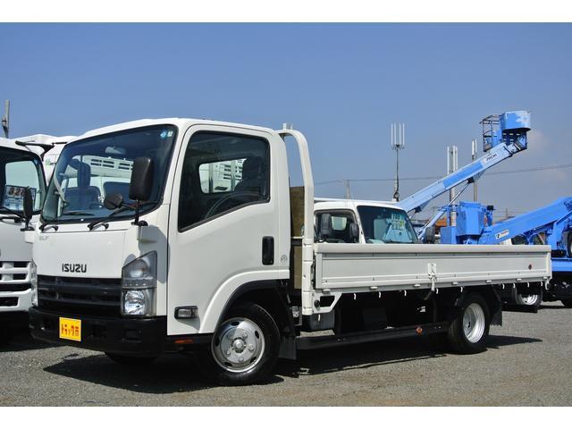 いすゞ エルフトラック 平ボディー 積載量2t ワイド ロング 全低床 MT