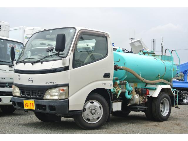 日野 散水車 積載容量2000L サブE/G式 5速MT