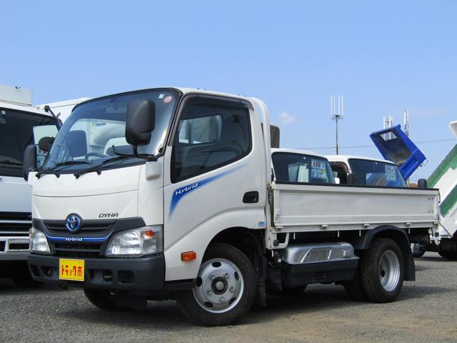 トヨタ  平ボディー 積載量2000kg 全低床 10尺 アイドリングストップ ETC ハイブリッド