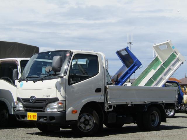 トヨタ ダイナトラック  平ボディ 積載2t 全低床 10尺 3方開 ナビTV ETC