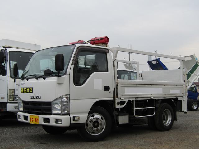 いすゞ エルフトラック  平ボディ 新明和製昇降ゲート 積載量3t 10尺 6速MT