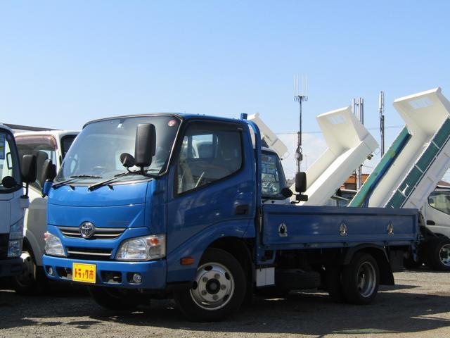 トヨタ  平ボディー 積載量2000kg 低床 10尺 5速MT 荷台アオリロープ穴 荷台床板張り
