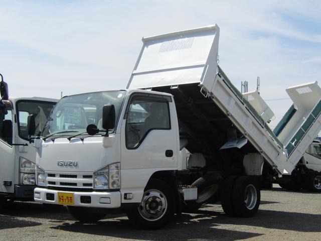 いすゞ エルフトラック ダンプ 積載量2t コボレーン付 極東開発製(形式DD02-31) 坂道発進補助装置 排出ガス浄化装置 高床 5速MT ディーゼル